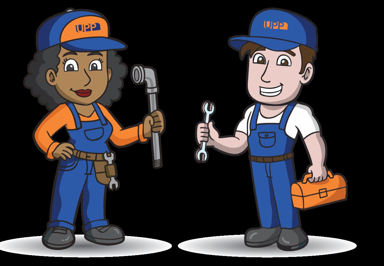 plumbing - UPP Characters Final - Welcome